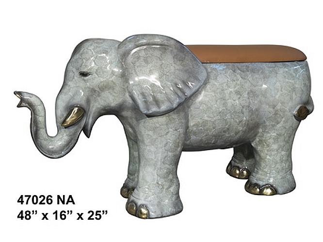 Bronze Elephant Bench - AF 47026NA
