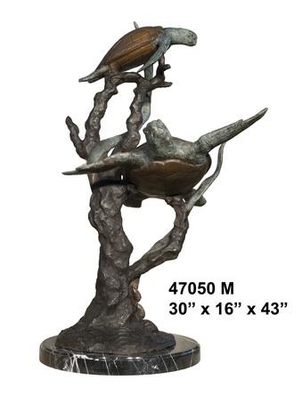 Bronze Turtle Statue - AF 47050M