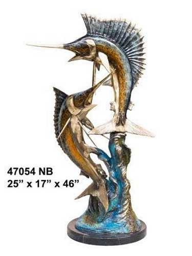 Bronze Sailfish Sculpture - AF 47054NB