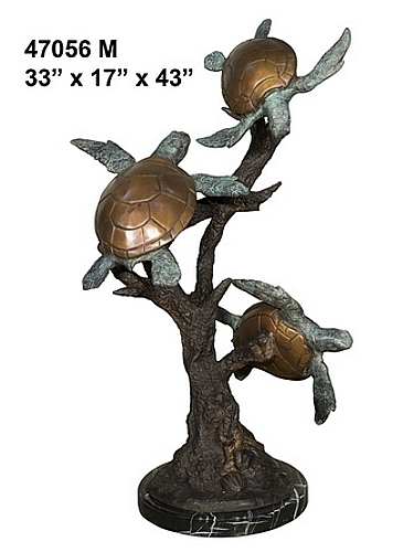 Bronze Turtle Statue - AF 47056M