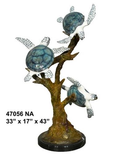 Bronze Turtle Statue - AF 47056NA