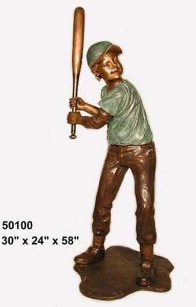 Bronze Baseball Batter Statue - AF 50100