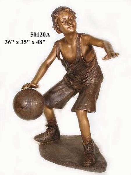 Bronze Boy Basketball Player Statue - AF 50120A