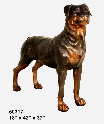 Bronze Dog Rotweiler Statue - AF 50317