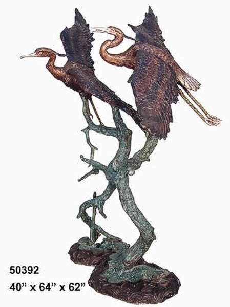 Bronze Heron Fountains - AF 50392