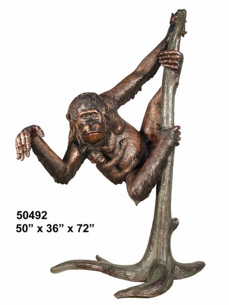 Bronze Monkey Statue - AF 50492