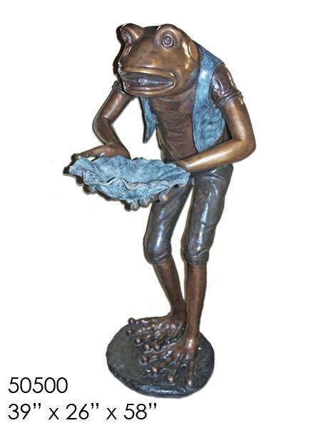 Bronze Frog Statue - AF 50500