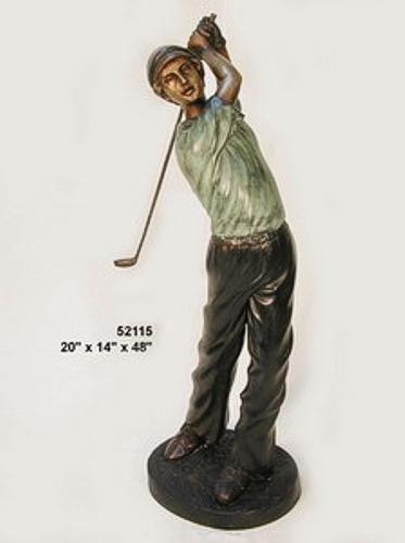 Bronze Golfer Boy Statue - AF 52115