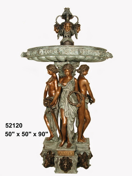 Bronze La Justice Ladies Fountain - AF 52120
