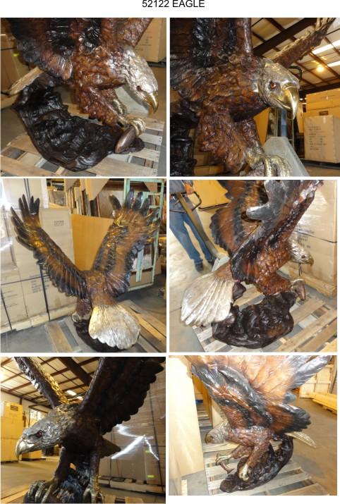 Bronze Eagle Statues   Bird of Prey - AF 52122