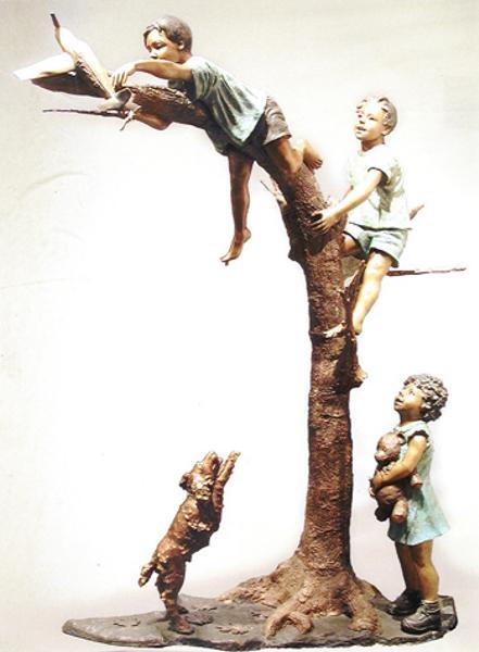 Bronze Children Statues - AF 52215
