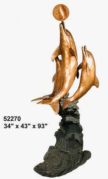 Bronze Dolphin Fountains - AF 52270