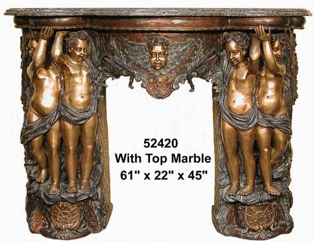 Bronze Fireplace Surrond - AF 52420M