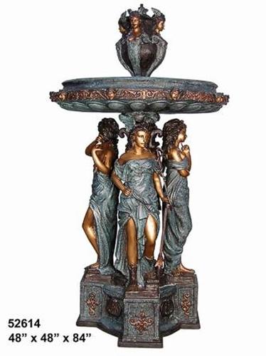 Bronze Four Ladies Fountain - AF 52614