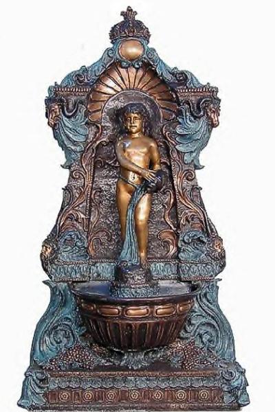 Bronze Boy Wall Fountain - AF 52618