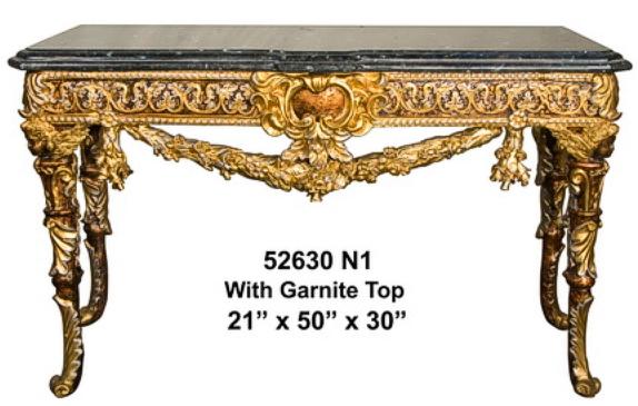 Bronze Table with Granite Top - AF 52630N1
