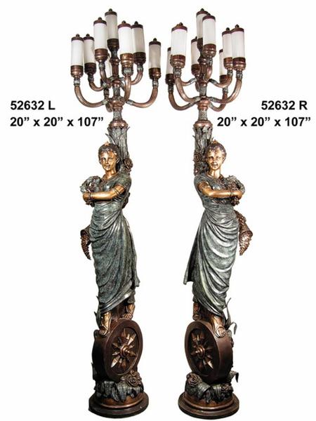 Bronze Ladies Torchieres - AF 52632