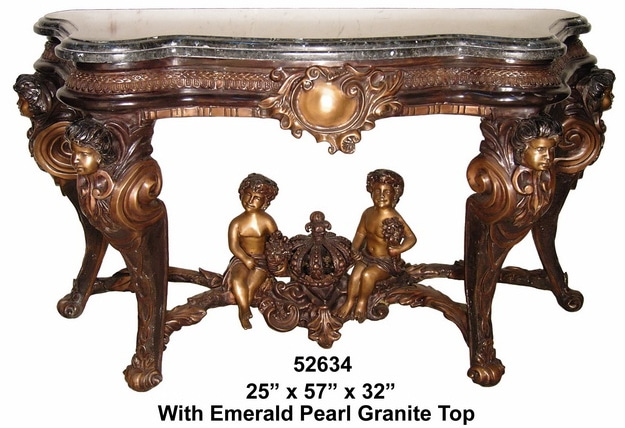 Bronze Cupid Console Table - AF 52634