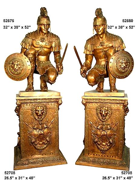 Bronze Spartan Statue - AF 52675-80-708