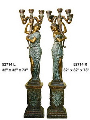 Bronze Ladies Torchiere Lamps - AF 52714