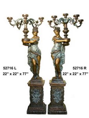 Bronze Ladies Torchiere Lamps - AF 52716