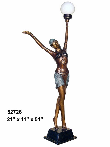 Bronze Lady Torchiere - AF 52726