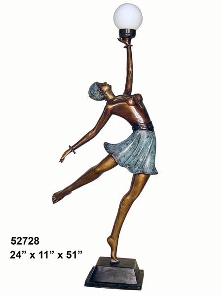 Bronze Lady Torchiere - AF 52728
