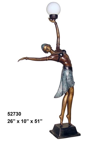 Bronze Lady Torchiere - AF 52730