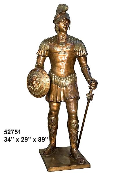 Bronze Spartan Statue - AF 52751