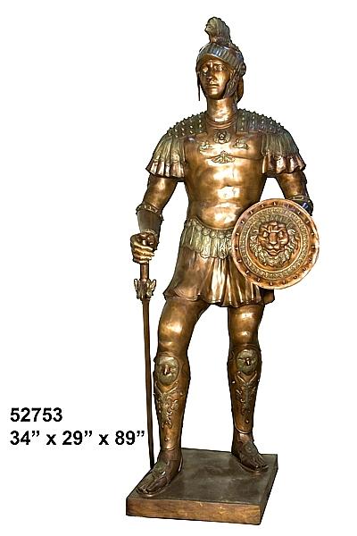 Bronze Spartan Statue - AF 52753