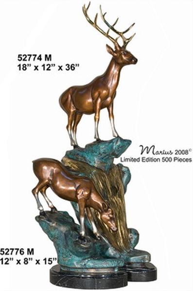 Bronze Deer Buck Statues - AF 52774