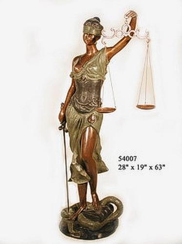 Bronze Blind Justice Statue - AF 54007