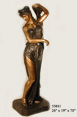 Bronze Lady with Urn Statues - AF 55011