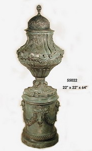 Bronze Urn with Pedestal - AF 55022