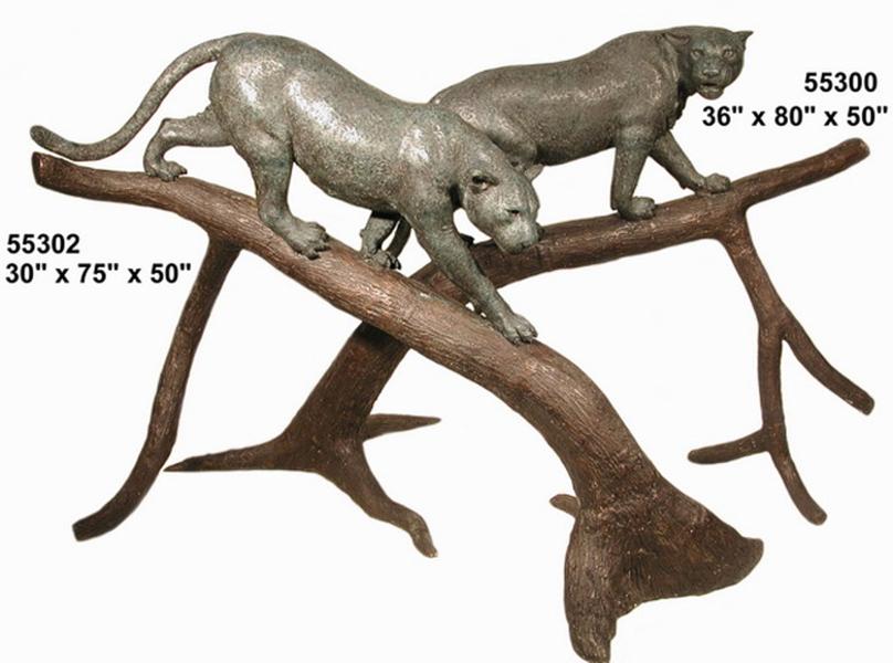 Bronze Cougar Statues - AF 55300
