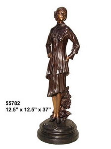 Bronze Fashion Lady Statues - AF 55782