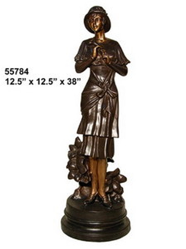 Bronze Fashion Lady Statues - AF 55784