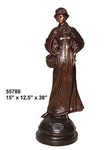 Bronze Fashion Lady Statues - AF 55786