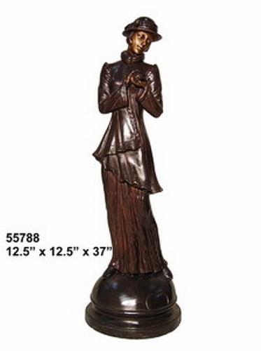 Bronze Fashion Lady Statues - AF 55788