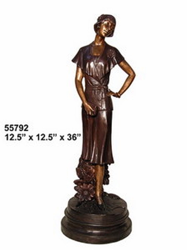 Bronze Fashion Lady Statues - AF 55792
