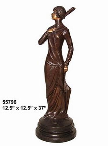 Bronze Fashion Lady Statues - AF 55796