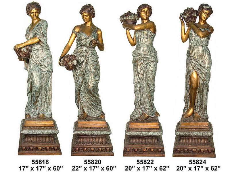 Bronze Four Seasons Statues - AF 55818-24