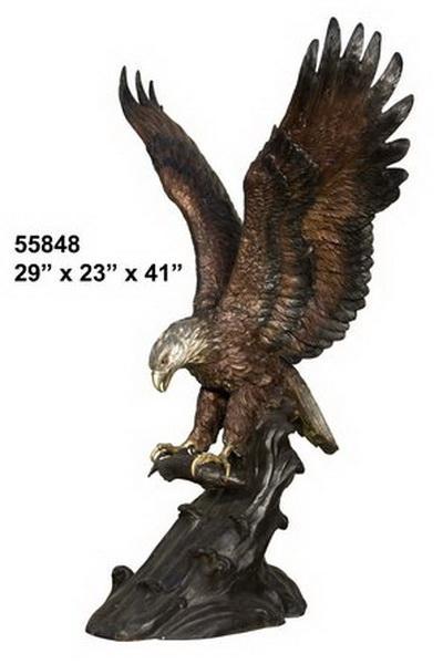 Bronze Eagle Statues   Bird of Prey - AF 55848TS