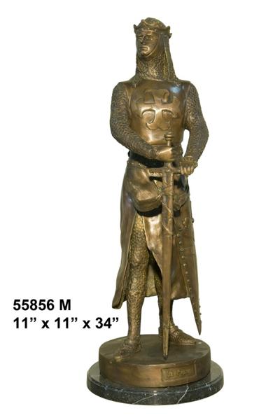 Bronze Knight Statue - AF 55856