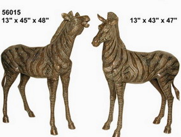 Bronze Zebra Statues - AF 56015