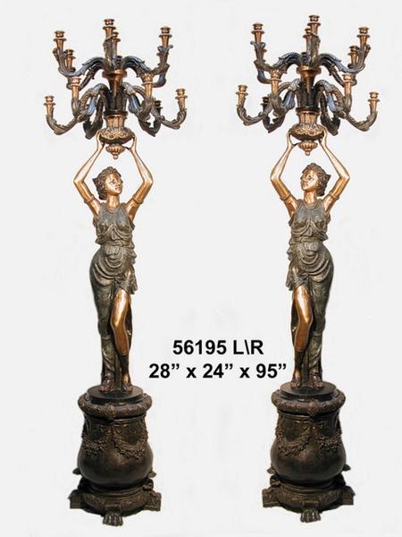 Bronze Ladies Candelabra - AF 56195