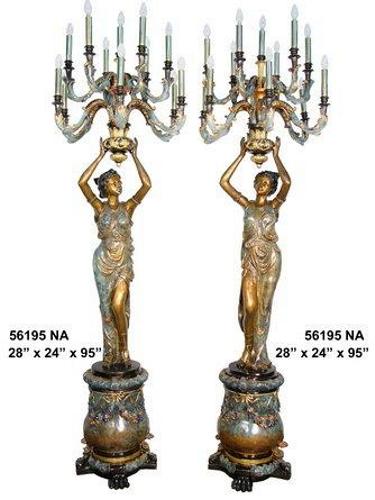 Bronze Ladies Torchieres - AF 56195NA
