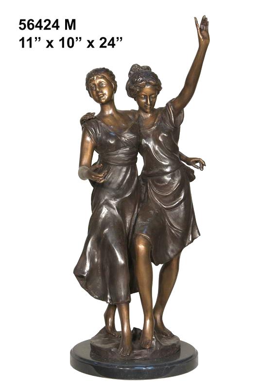 Bronze Dancing Ladies Statue - AF 56424M