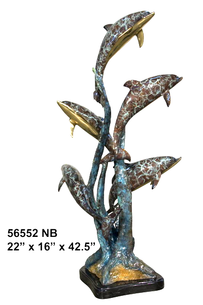 Bronze Dolphin Fountain - AF 56552NB