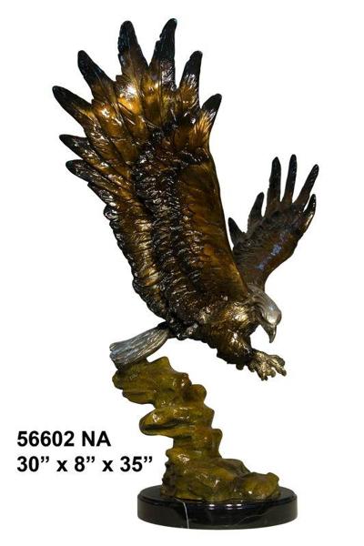 Bronze Eagle Statues   Bird of Prey - AF 56602NA
